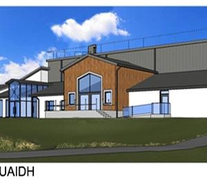 Moycullen\'s new community centre - radharc thoir thuaidh - north east view