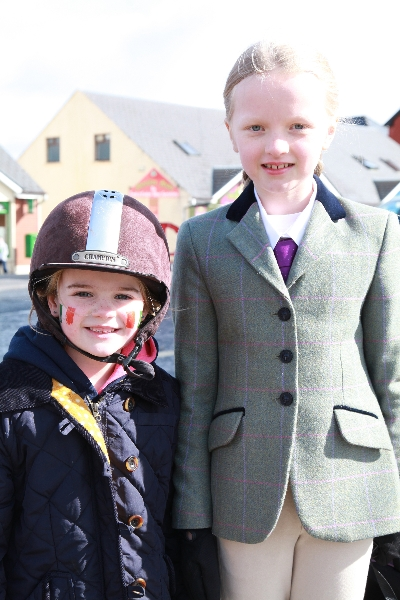 Moycullen's St. Patrick's Day Parade 2013 - two young girls from the riding school at Moycullen