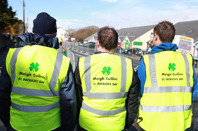 Moycullen's St. Patrick's Day Parade 2013 - street stewards at the parade