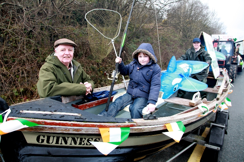 Moycullen's St. Patrick's Day Parade 2013 - a fishing boat without water