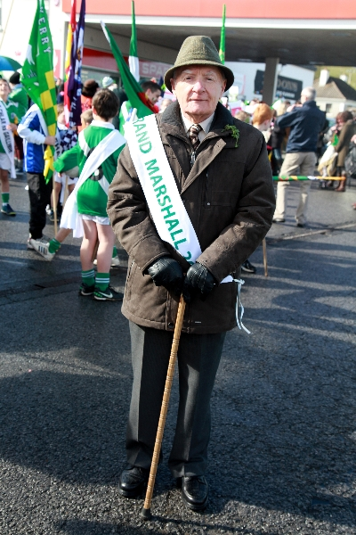 Moycullen's St. Patrick's Day Parade 2013 - Frank Kelly - the Grand Marshall for Moycullen's St Patrick's Day Parade