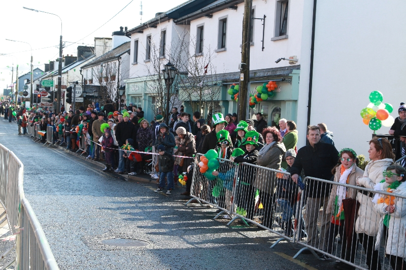 Moycullen's St. Patrick's Day Parade 2013 - locals waiting for the parade
