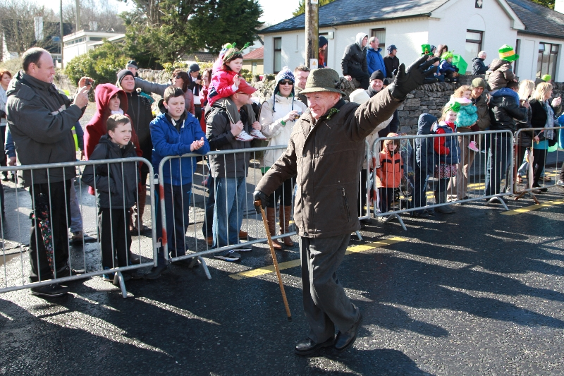 Moycullen's St. Patrick's Day Parade 2013 - the Grand Marshall starts the Parade at Moycullen