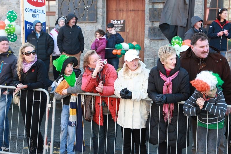 Moycullen's St. Patrick's Day Parade 2013 - locals watching the parade