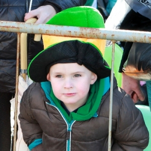 Moycullen\'s St. Patrick\'s Day Parade 2013 - a eager parade goer