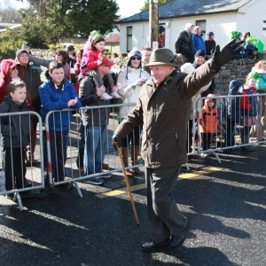 Moycullen\'s St. Patrick\'s Day Parade 2013 - the Grand Marshall starts the Parade at Moycullen