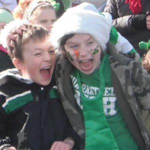 Moycullen\'s St. Patrick\'s Day Parade 2013 - two happy kids in the crowd