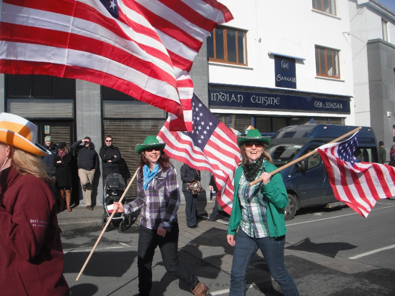 Moycullen's St. Patrick's Day Parade 2013 - the American flag bearers