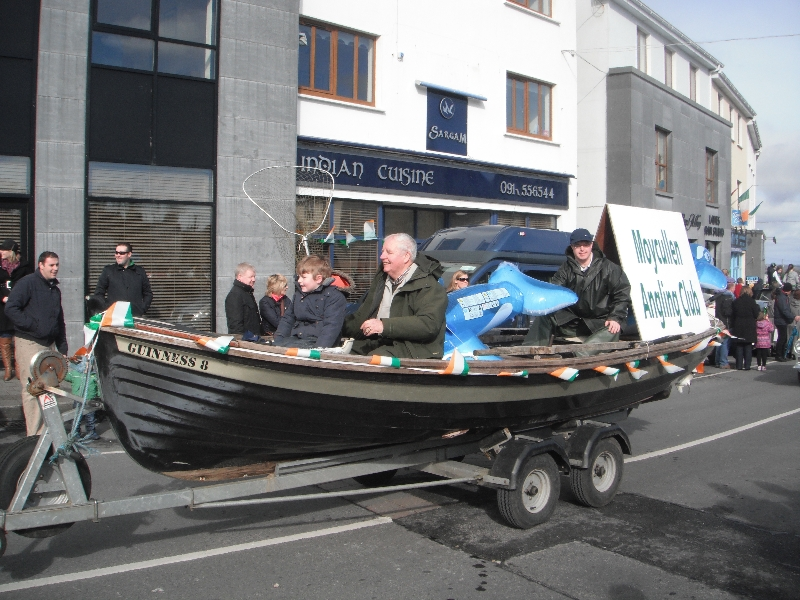Moycullen's St. Patrick's Day Parade 2013 -- a fishing boat at the parade