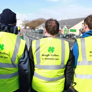 Moycullen\'s St. Patrick\'s Day Parade 2013 - street stewards at the parade