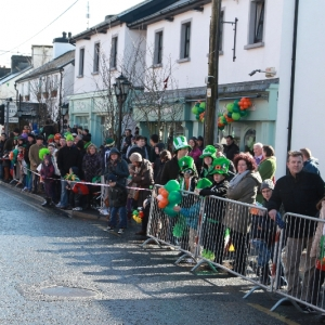Moycullen\'s St. Patrick\'s Day Parade 2013 - locals waiting for the parade