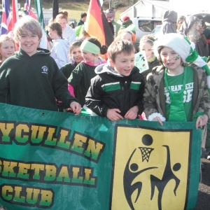 Moycullen\'s St. Patrick\'s Day Parade 2013 - Moycullen Basketball club marches at the parade