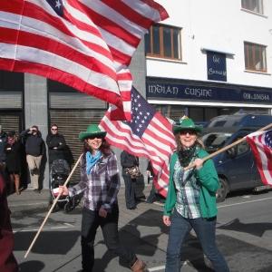Moycullen\'s St. Patrick\'s Day Parade 2013 - the American flag bearers