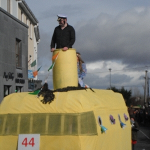 Moycullen\'s St. Patrick\'s Day Parade 2013 -- a submarine at the parade