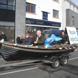 Moycullen\'s St. Patrick\'s Day Parade 2013 -- a fishing boat at the parade