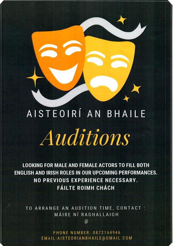 Auditions Actors Moycullen