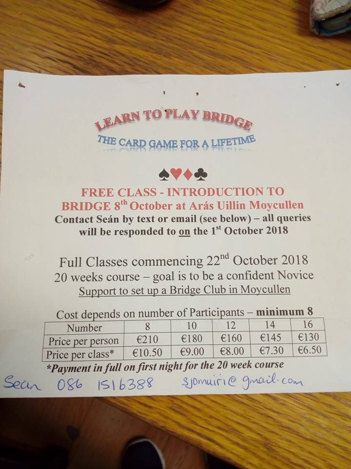 Bridge Club Moycullen