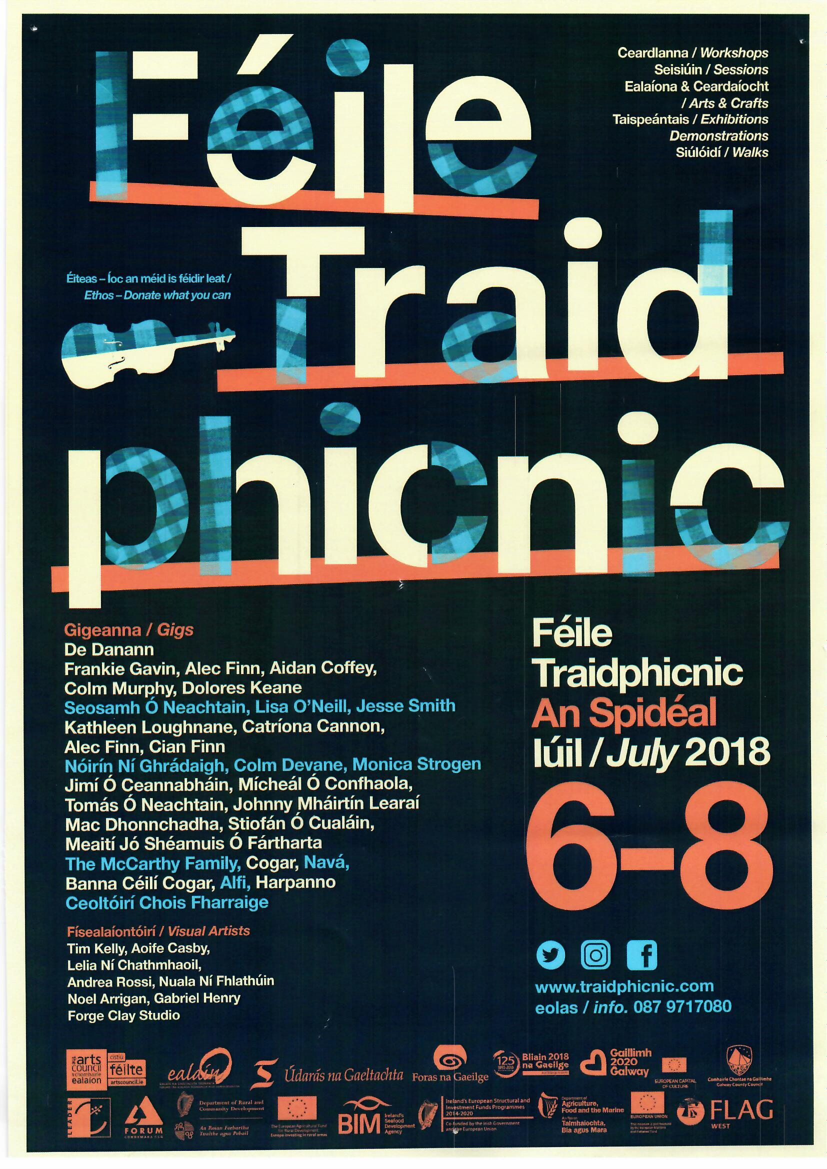 Traad festival Spiddal 6 to 8 July 2018