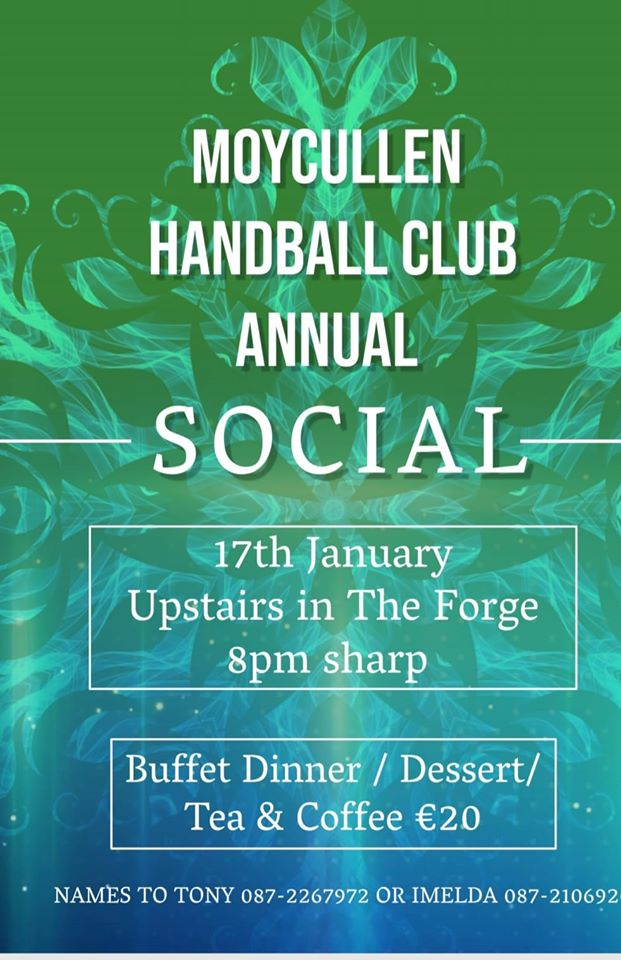 Moycullen Handball Club Annual Social