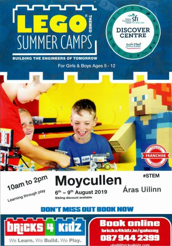 Lego Summer camps 2019 Moycullen Co. Galway