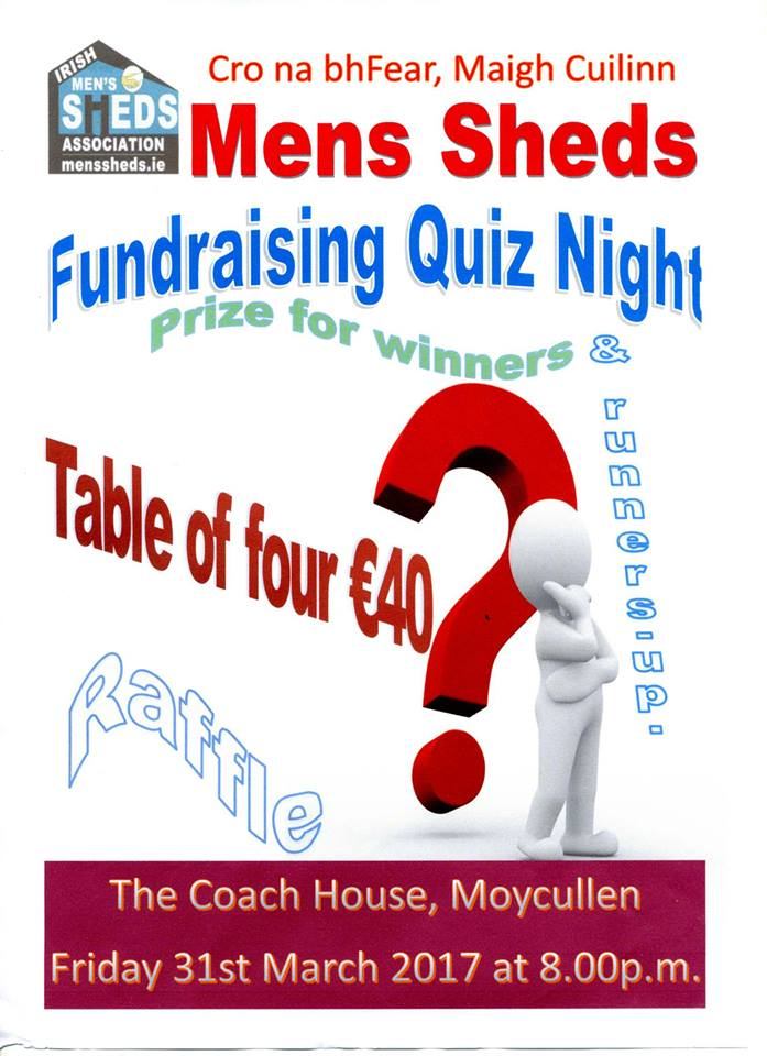 Mens Shed Maigh Cuillin Table Quiz 31 March 2017