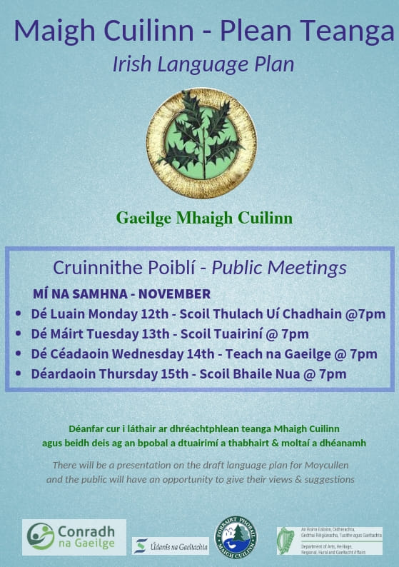Plean Teanga Moycullen community consultation