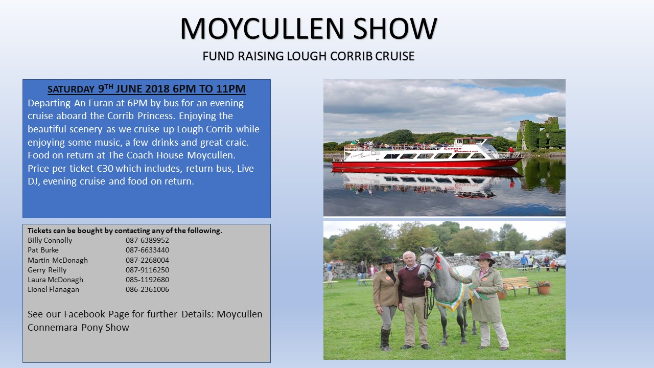 Moycullen Show 2018 Fund raising cruise