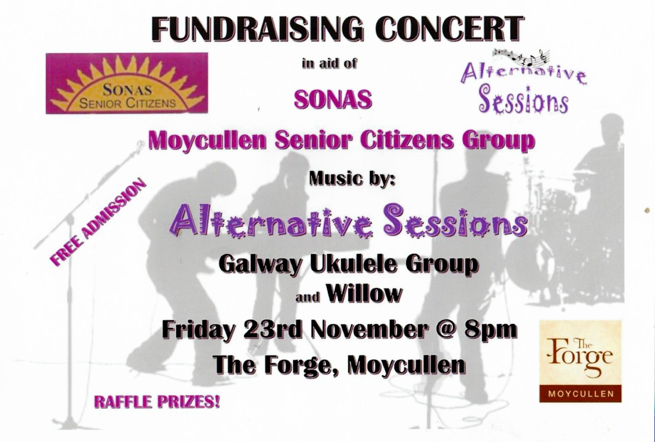 Sonas fund raising concert. Friday 23rd Nov at the Forge, Moycullen. Free Admision