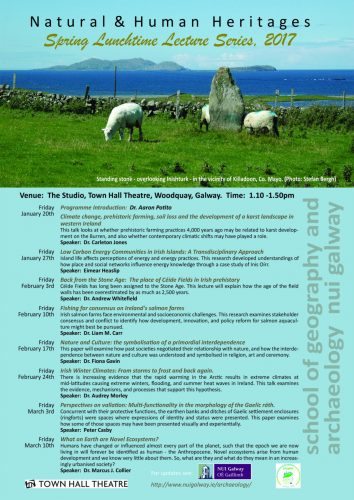 Natural and Human Heritages Spring lunchtime lecture series 2017