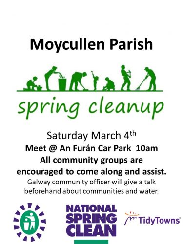 Moycullen Spring clean 2017 Saturday March 4th