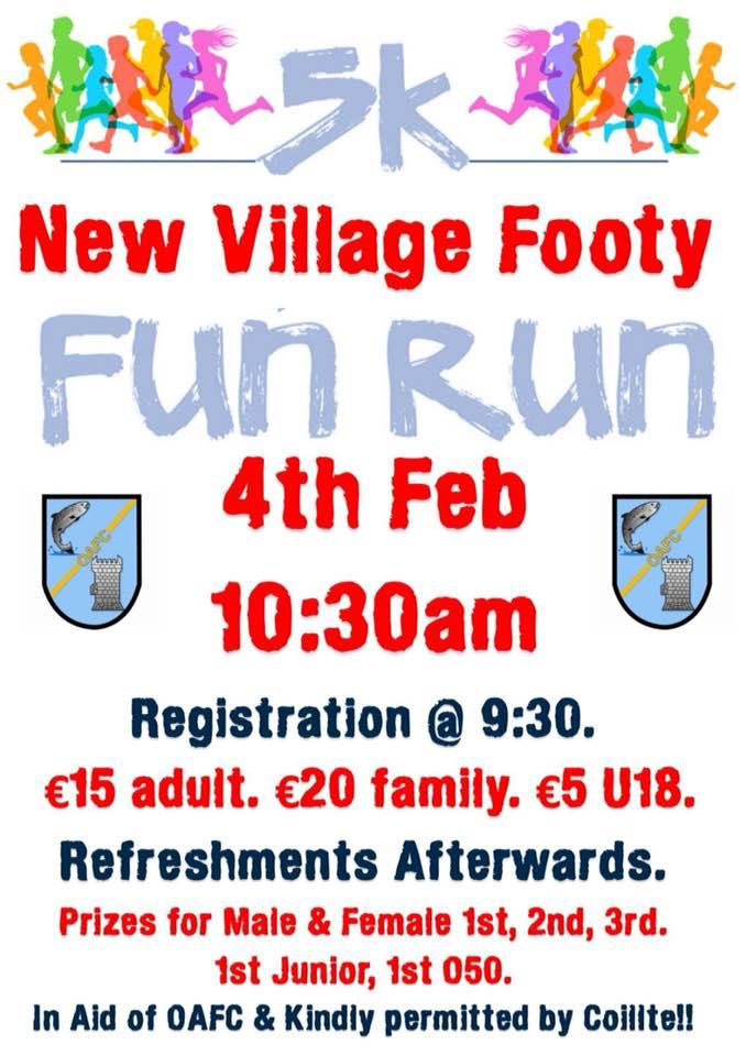 Oughterard Fun Run 4th February 2018